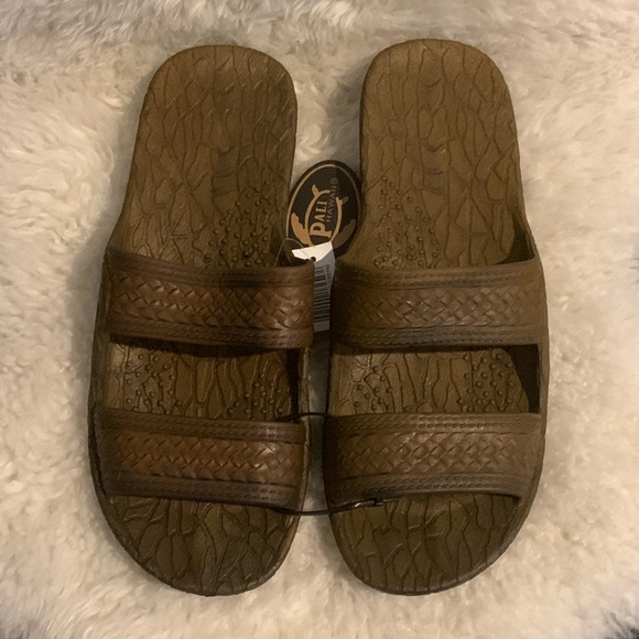 great deals 2017 best sell official images NWT Pali Hawaii Brown Jandals Jesus Sandals Slides Boutique